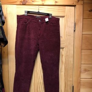 Corduroy pants, worn once, excellent used.